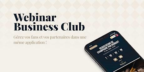Business Club | L'espace de vos partenaires billets