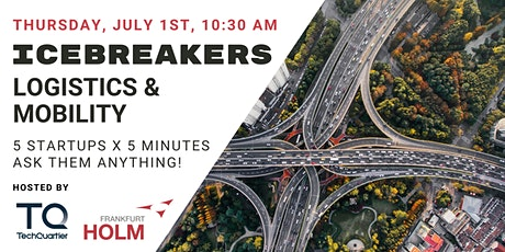 Icebreakers #13 - Logistics & Mobility Startup Pitches! Tickets