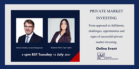 Private Market Investing: Challenges, Opportunities & Signs of Success tickets