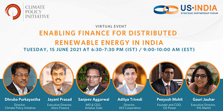 USISPF and CPI: Enabling Finance for Distributed Renewable Energy in India tickets