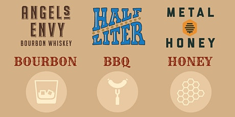 BOURBON, BBQ & HONEY DINNER with Angel's Envy, Half Liter & Metal Honey tickets
