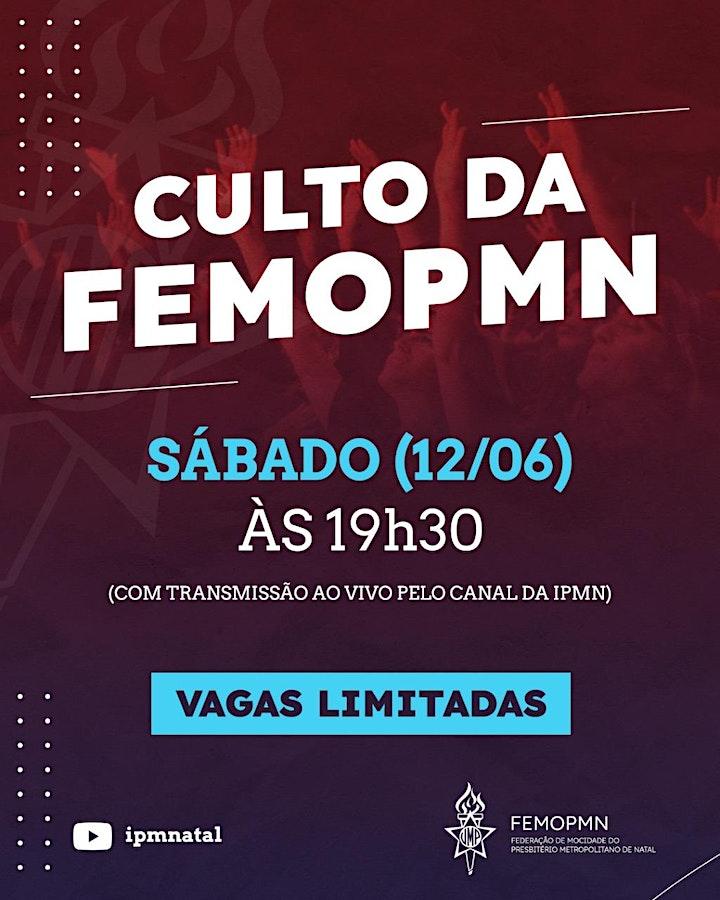 Imagem do evento Culto de início de atividades da FEMOPMN Presencial