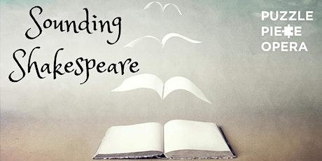 Sounding Shakespeare tickets
