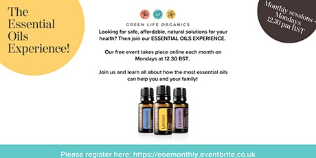 Essential Oils Experience - Monthly Monday sessions tickets