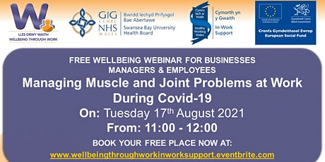 Managing Muscle and Joint Problems at Work During Covid-19 tickets