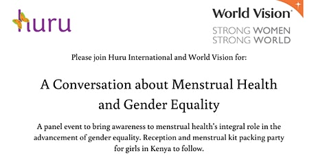 A Conversation on Menstrual Health and Gender Equality tickets