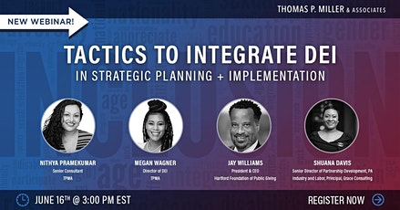 Tactics to Integrate DEI in Strategic Planning + Implementation tickets