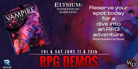 RPG Demo of Vampire: The Masquerade Fifth Edition tickets