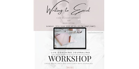 Writing to Excel Journaling Workshop tickets