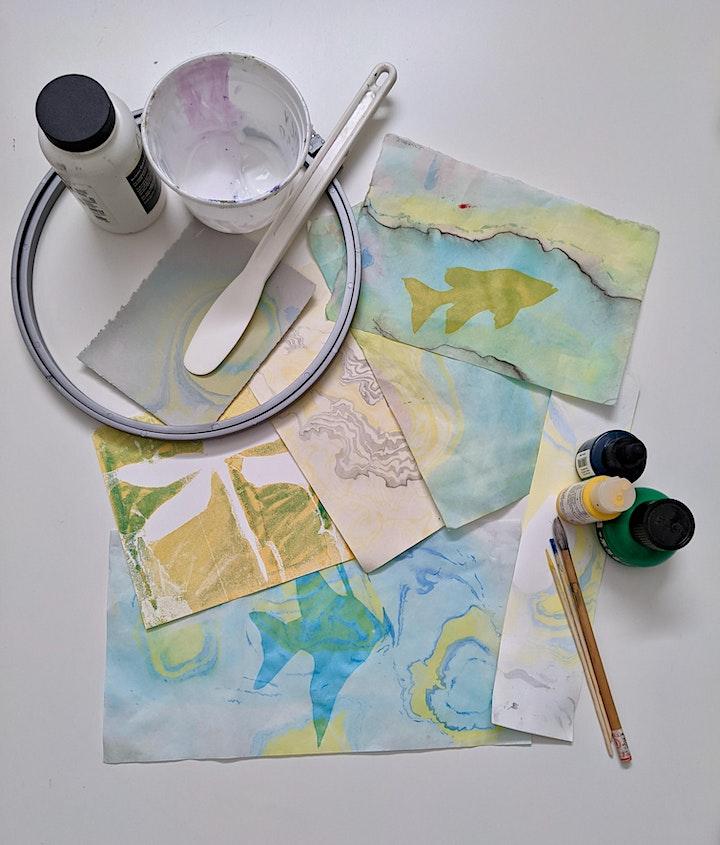 DIY Printmaking: Marbling, Monoprinting & Stencil-making image