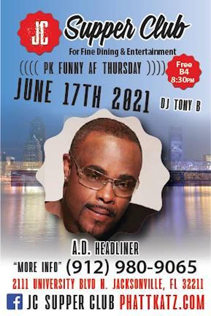 PK Funny AF Thursdays headliner A.D. Headliner image