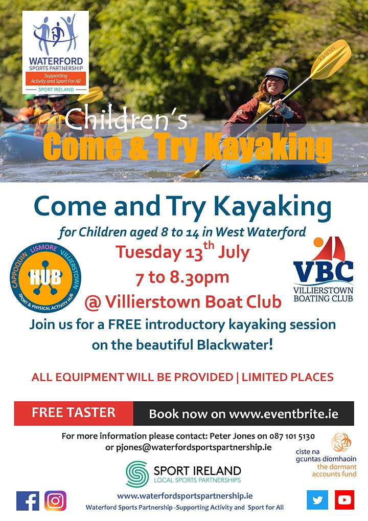 Come & Try Kayaking for Children (age 8-14) in West Waterford image
