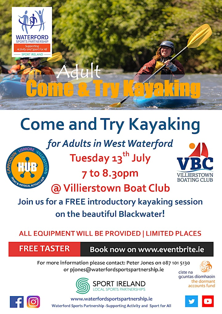 Come & Try Kayaking for Adults in West Waterford image