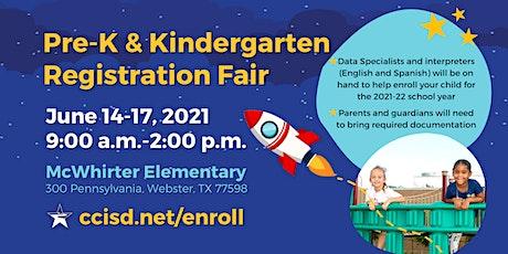 CCISD Pre-K & Kindergarten Registration Fair tickets