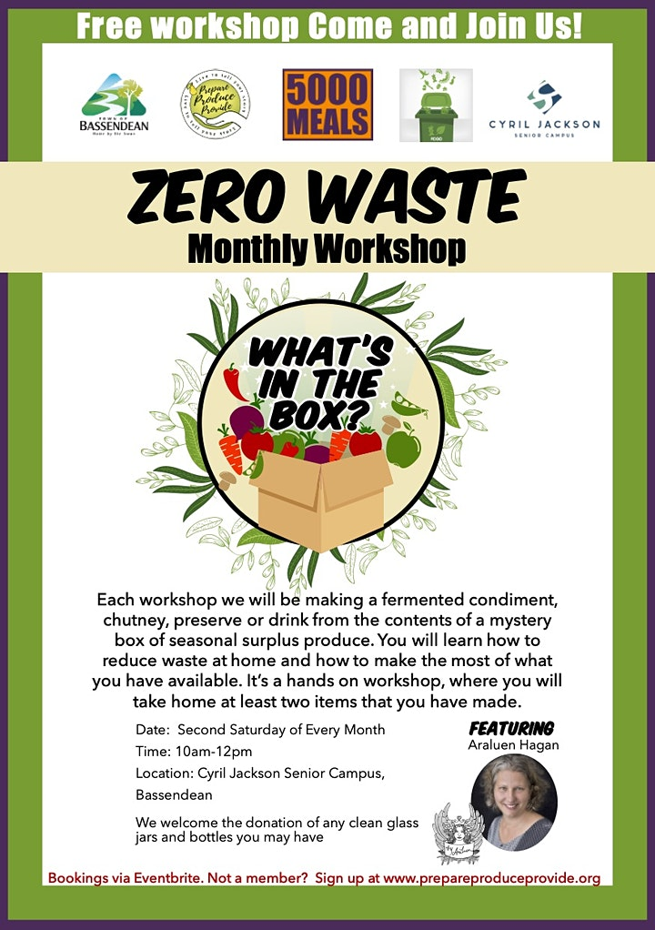Zero Waste Monthly Workshop | Immune Boosting Recipes image