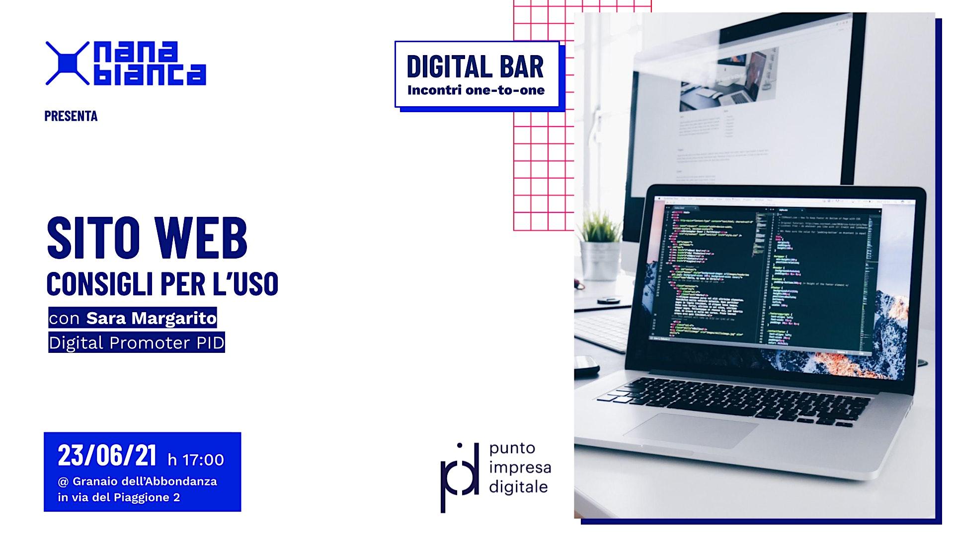 Digital Bar: Sito web - Consigli per l'uso