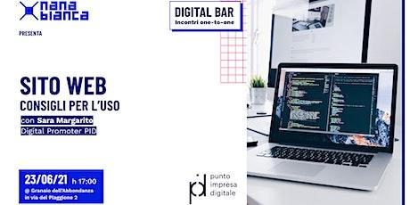 Digital Bar: Sito web - Consigli per l'uso biglietti