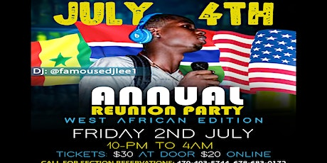 July 4th Annual reunion party tickets