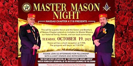 Nassau Chapter # 718 presents Master Mason Night tickets
