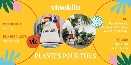 Vinokilo x Plantes pour tous billets
