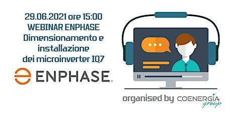 29.06 Webinar Enphase dimensionamento e installazione dei microinverter IQ7 ingressos