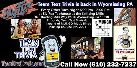 Team Text Trivia + MUNGO Music Bingo + Fun Game Night tickets