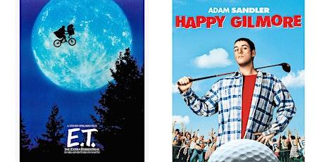 1.) E.T (1982) 2.) Happy Gilmore tickets