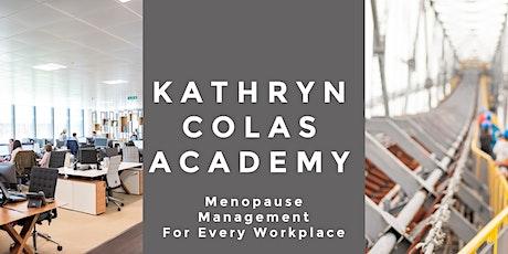 Menopause :HRT & Menopause Myths with Dr Olivia Hum & Kathryn Colas biglietti
