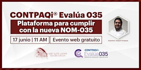 CONTPAQi® Evalúa035, Sistema de Evaluación Organizacional entradas
