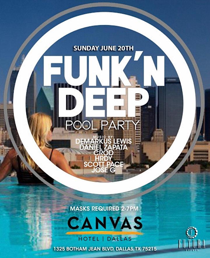 CANVAS Dallas FUNK'N DEEP Pool Party image