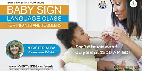Baby Sign Language Class for Infants & Toddlers (July 28) tickets