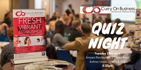 Curry On Business - Quiz Night billets