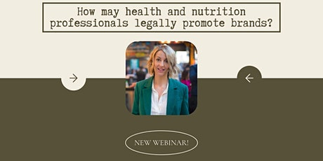 How may health and nutrition professionals legally promote brands? tickets