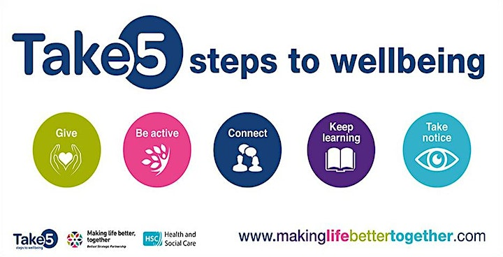 5 STEPS TO WELLBEING: Mindfulness walk image