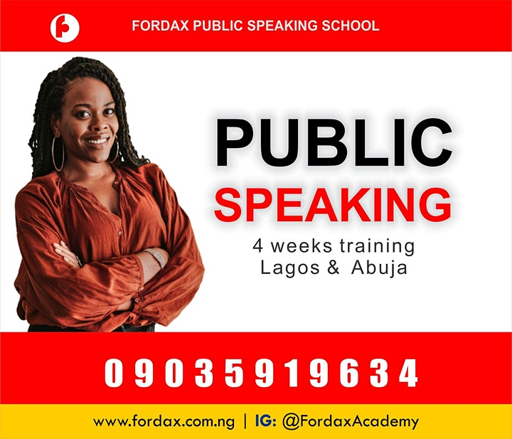 PUBLIC SPEAKING AND PRESENTATION WORKSHOP LAGOS image