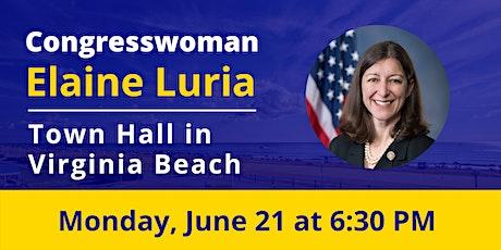 Congresswoman Elaine Luria's In-Person Virginia Beach Town Hall tickets