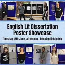 English Literature Dissertation Poster Showcase tickets