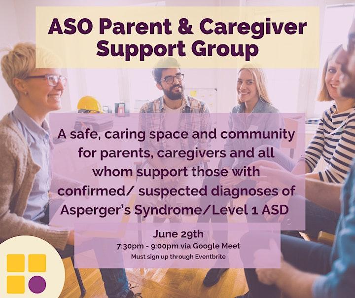 ASO Parent & Caregiver Support Group June 2021 image
