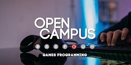 Tag der offenen Tür | SAE Mediencampus Leipzig  - Games Programming Tickets