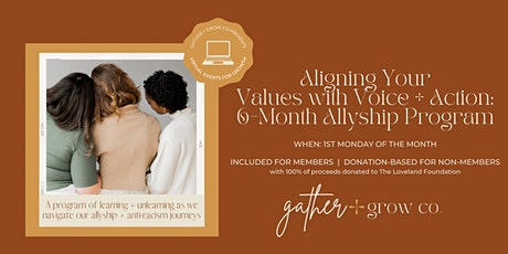 Aligning Your Values with Voice + Action tickets