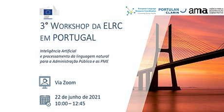3º Workshop da ELRC em Portugal bilhetes