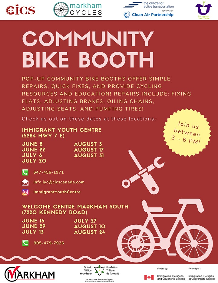 Pop-up Community Bike Booths! image