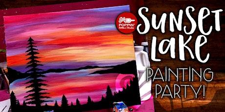 Sunset Lake On Canvas! tickets
