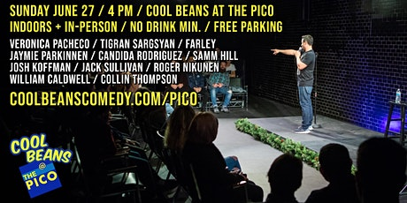Cool Beans at The Pico -- INDOORS + IN-PERSON! tickets