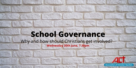 School Governance: Why and how should Christians be involved? tickets