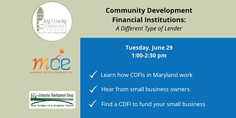 Community Development Financial Institutions: A Different Type of Lender tickets