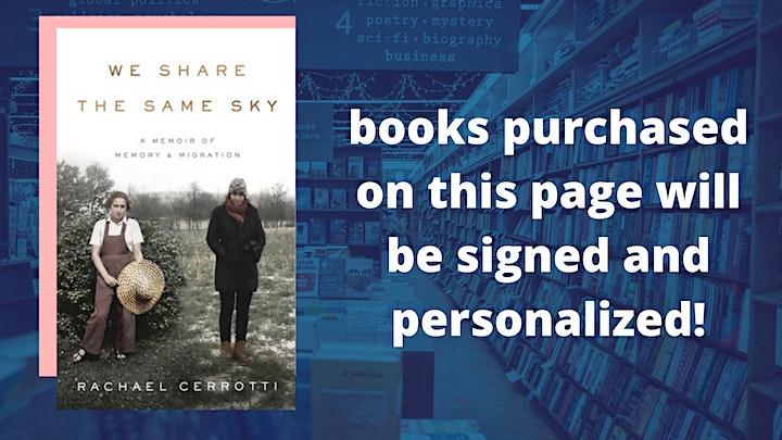 Rachael Cerrotti with Elizabeth Rosner: We Share the Same Sky image