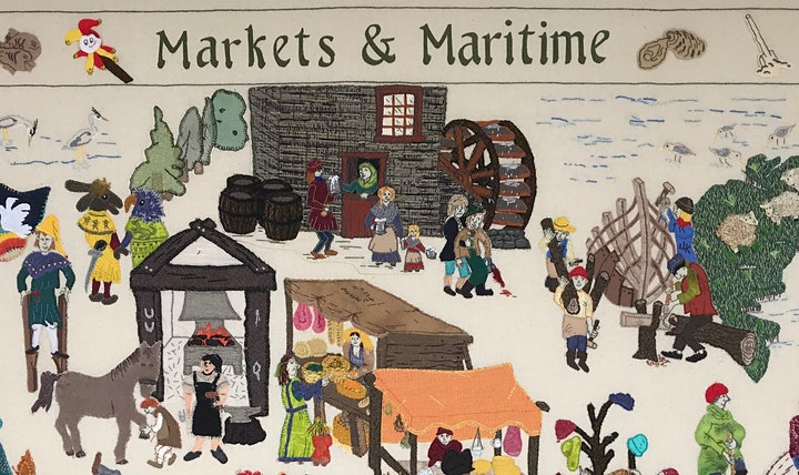 Tapestry Exhibition (27/7-7/8): Rochford District Heritage 1000yr Tapestry image