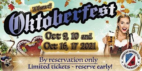 """A Taste of Oktoberfest"" featuring Brews, Food & Music tickets"
