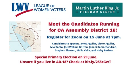 Special Primary Election, Assembly District 18: Candidate Forum tickets